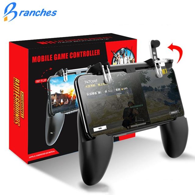 All-in-One Joystick Gamepad Controlador de Jogo para Celular PUBG Fogo Livre PUGB Móvel Metal L1 R1 Botão para jogos iPhone