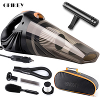 GRIKEY Strong Suction Vacuum Cleaner For Car 4800Pa Handheld Dry Wet 12V Car Vacuum Cleaner Spare Filter Aspiradora Para Auto