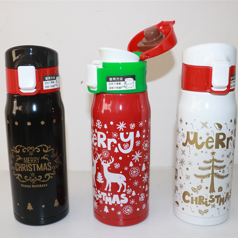 Orderly New Upload 350ml/500ml Christmas Stainless Steel Vacuum Thermos Bottle For Coffee Tea Kids Hot Water Bottle Inlusated Thermo Mug Kitchen,dining & Bar