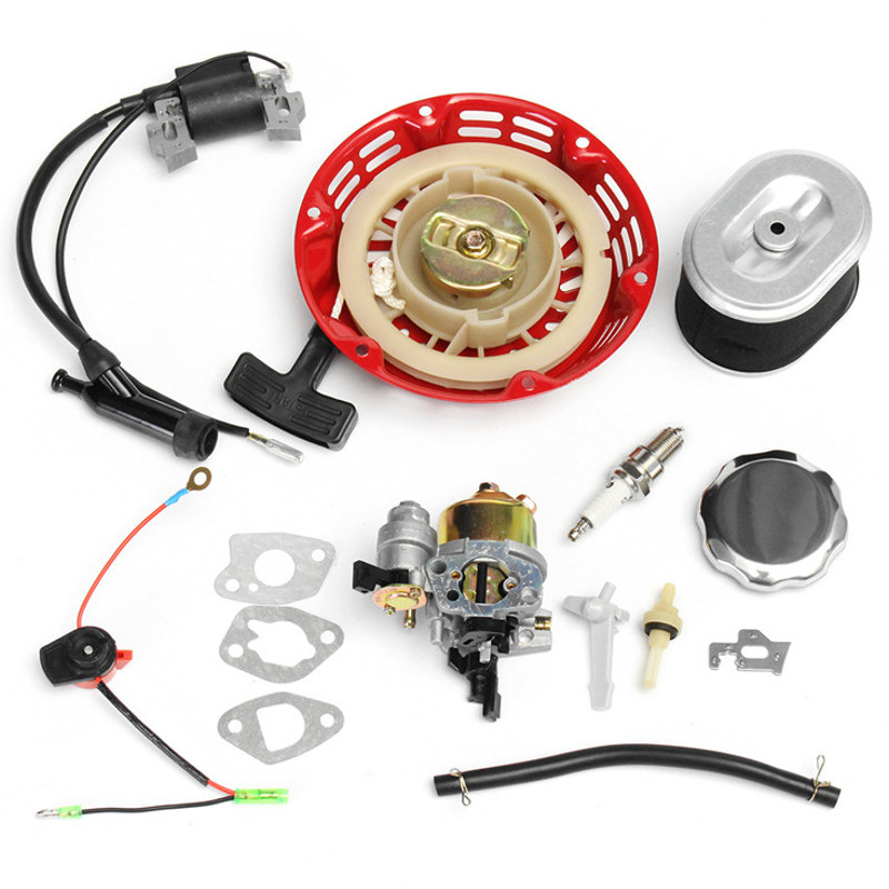 1 Set Recoil Carburetor Ignition Coil For Spark Plug Air Filter Gas For Honda GX160 GX200
