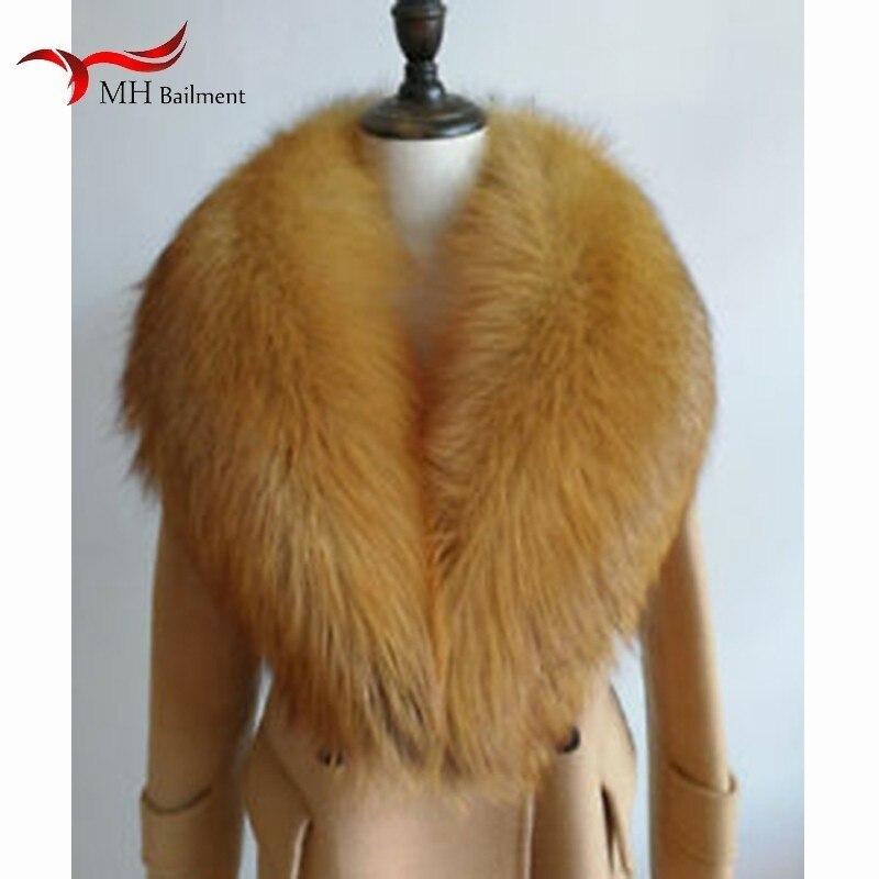 Femmes hiver nouveau 100% réel fourrure de renard rouge col de fourrure mode chaud sauvage grande taille écharpe hommes et féminin châle hiver chaud écharpe