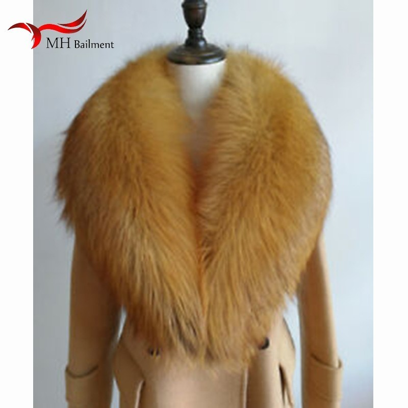 Women Winter New 100% Real Red Fox Fur Fur Collar Fashion Warm Wild Large Size Scarf Men And Feminine Shawl Winter Warm Scarf