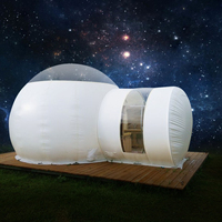 SGODDE Inflatable Bubble Tent For Family Camping Eco Home Tent DIY House Luxury Dome Camping Cabin Lodge Air Bubble With Pump