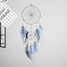 Dream Catcher Gifts Hanging-Art Valentine's-Day-Gifts Bestie-Friends 2-Ring Silver Indian