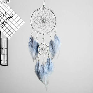 Dream Catcher Gifts Hanging-Art Indian Feather Valentine's-Day-Gifts Bestie-Friends 2-Ring