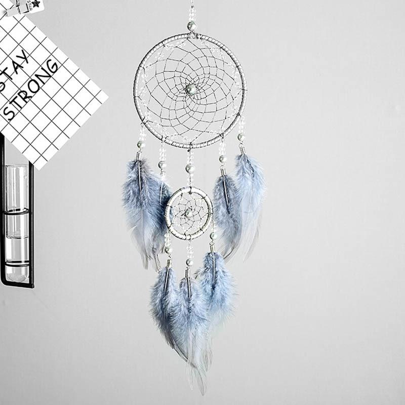 Penas de penas originais de sonho, anel de penas indiana cinza prateado, presentes para bestie, amigos, criativo, presente de dia dos namorados
