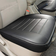 цена на 1 Piece Black Edge Wrapping Full Surround Car Front Seat Cushion Cover Pad Mat for Auto Supplies Office Chair with PU Leather