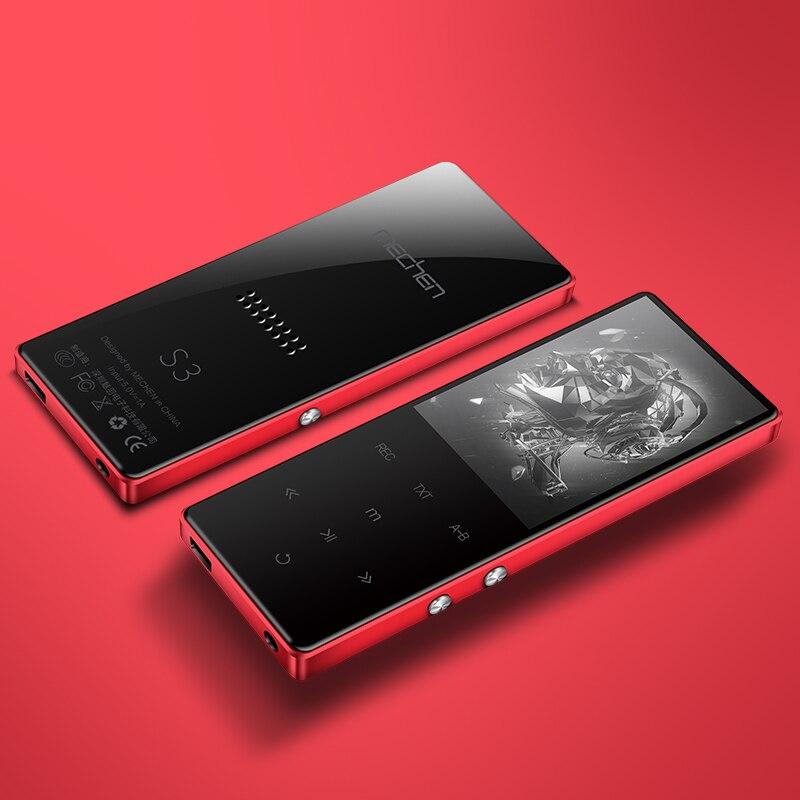 MECHEN S3 2.4Inch Screen MP3 Player Bluetooth HiFi Music Player 800mah Lossless HiFi FM Radio Recording Alarm Clock Video TF