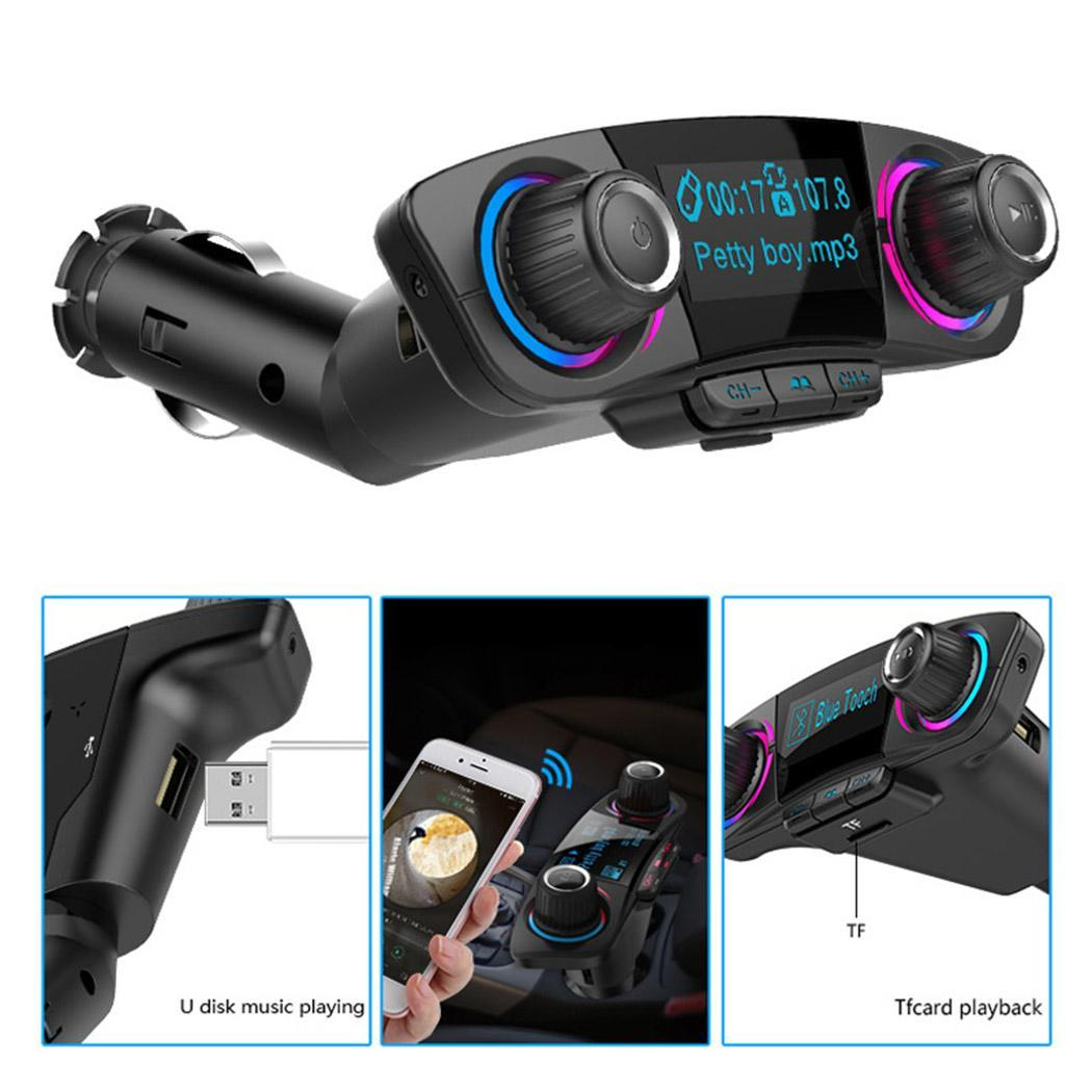 Power ON OFF Bluetooth 4.0 FM Transmitter Modulator Handsfree Car Kit TF USB Music AUX Audio MP3 Player