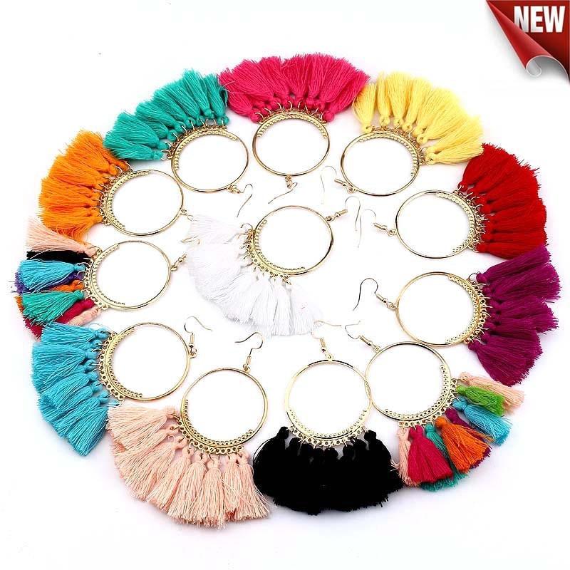Bohemian Handmade Earrings For Women Boho Style Woman Tassel Earring Female Jewelry Bridal Fringed Vintage Long Earrinngs Gifts