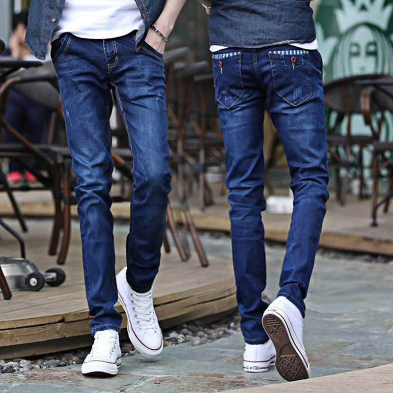 Zollrfea New Design Men's Harem Jeans Fashion Men Washed Feet Shinny Denim Pants Hip Hop Sportswear Elastic Waist Pants CB0115