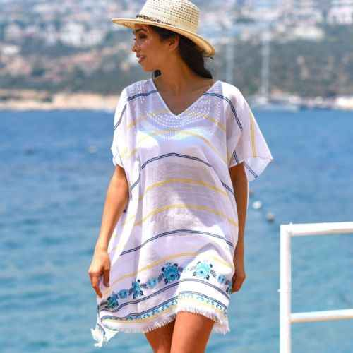 e4b1f5151b Summer Swimsuit Lace Hollow Crochet Beach Bikini Cover Up Short Sleeve Women  Tops Swimwear Beach Dress