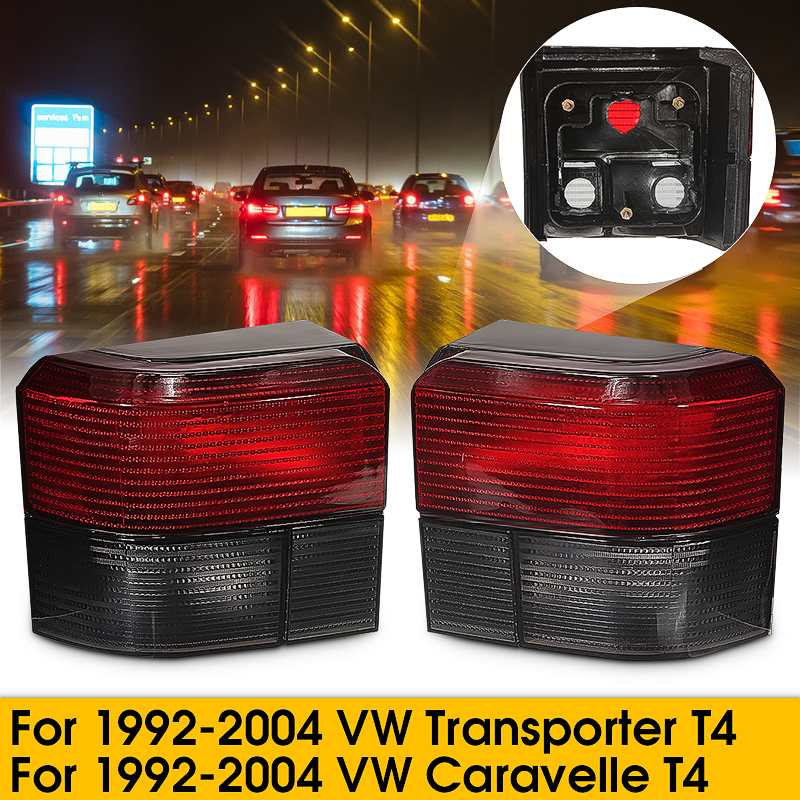 Smoked Red Tail Light Lamps for VW Transporter Caravelle T4 1992-2004Smoked Red Tail Light Lamps for VW Transporter Caravelle T4 1992-2004
