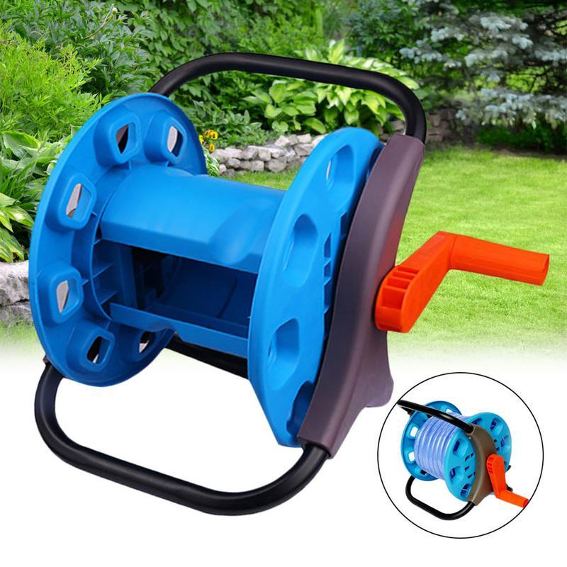 Wasser Schlauch Reel Trolley 20m Zu 25M Garten Bewässerung Waschen Rohr Lagerung Container Halter Tragbare Garten Wasser Schlauch rack