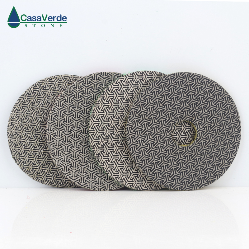 5 inch 125mm diamond Electroplated polishing Pad 4pcs Set Fast Removal Tile Glass Concrete Stone Sanding