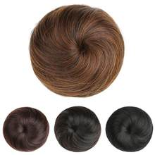 Bun Adjsutable Size Breathable Chignon Solid Hairpiece Braiding Scrunchie Women Donut Bun Wig(China)