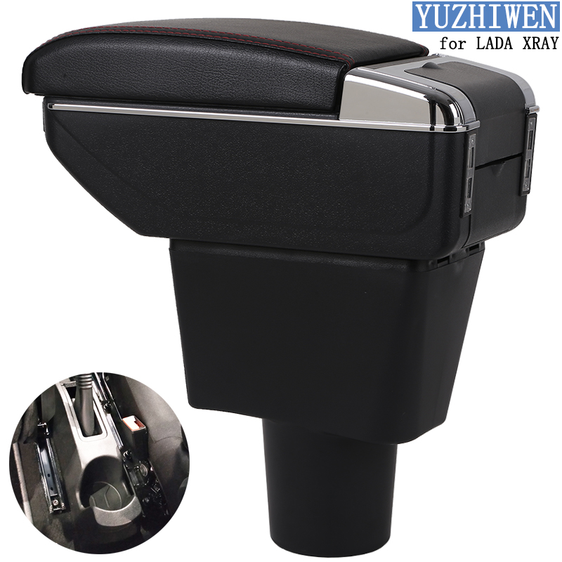 For LADA XRAY Armrest Box LADA XRAY Universal Car Central Armrest Storage Box cup holder ashtray modification accessories-in Armrests from Automobiles & Motorcycles