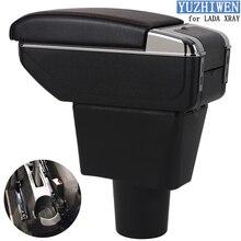 Для LADA XRAY подлокотник коробка Лада XRAY Универсальный Автомобильный центральный подлокотник коробка для хранения держатель стакана, пепельница Модификация аксессуары