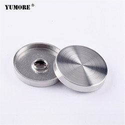 YUMORE 20PCS/lot 304 stainless steel home decoration screw standoff caps 40mm advertising screw covers caps