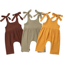 Vintage Newborn Infant Baby Girl Boy Clothing Ruffles Baby Girl Rompers Jumpsuit Overalls Summer Sleeveless Baby Girl Costumes(China)