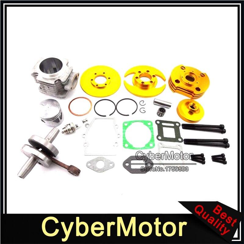 Or 44mm Big Bore Kit Cylindre Assy Pour 2 Course 47cc 49cc Moteur Chinois Minimoto Mini Dirt Pocket Bike ATV Quad 4 Roues