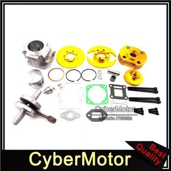 Złoty 44mm Big Bore zestaw cylindra Assy dla 2 suwowy 47cc 49cc silnik chiński Minimoto Mini Dirt motorynka ATV quad 4 Wheeler