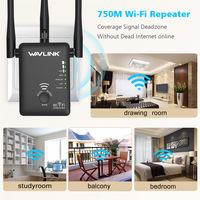 Wavlink 750Mbps 5GHz 2.4GHz Wireless Wifi Extender Repeater Router Network With 3 External Antennas US/EU Plug