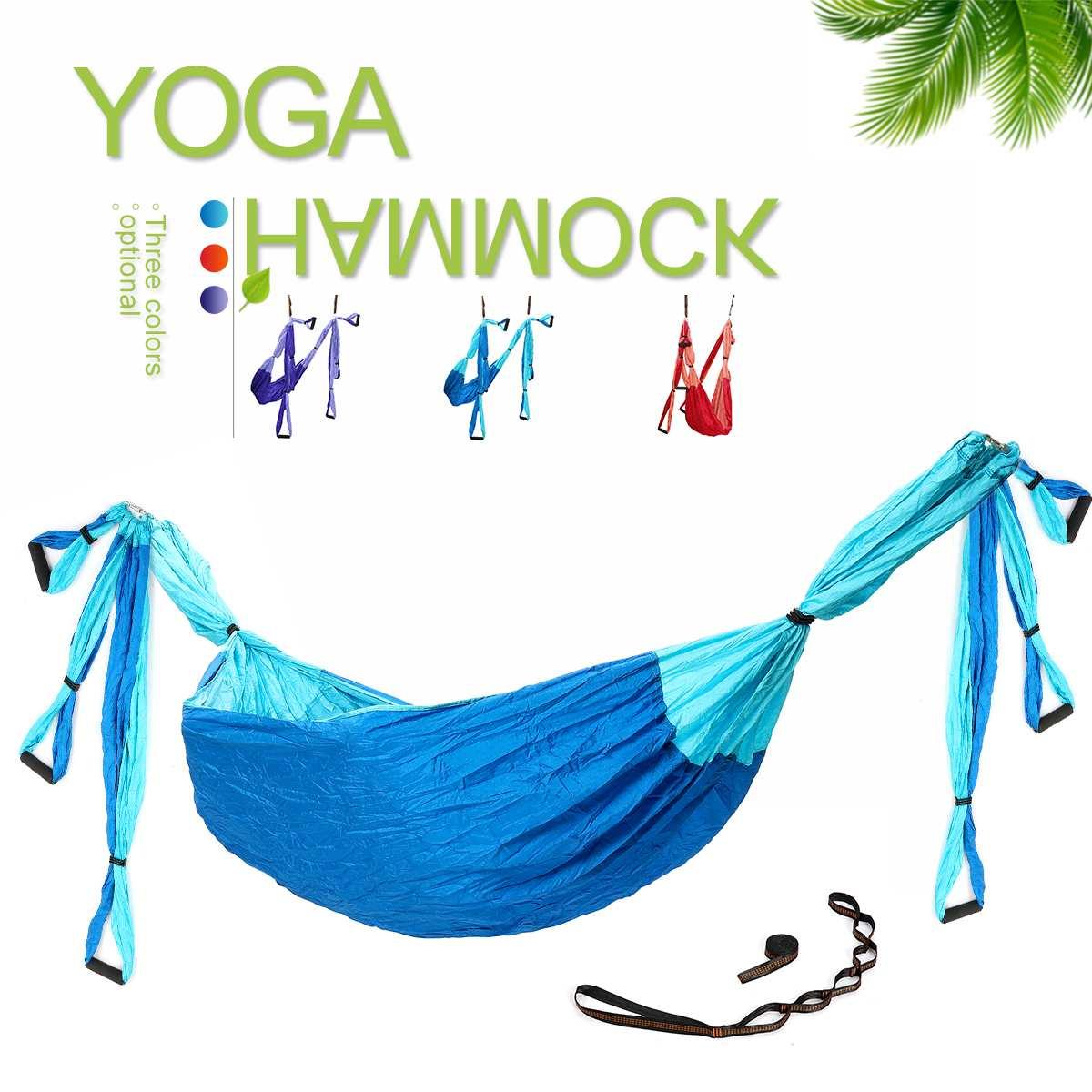 Hamac de Yoga Anti Gravité Ulm Parachute 210 T Nylon Tissu Aérienne De Yoga équipement de fitness Gym À Domicile