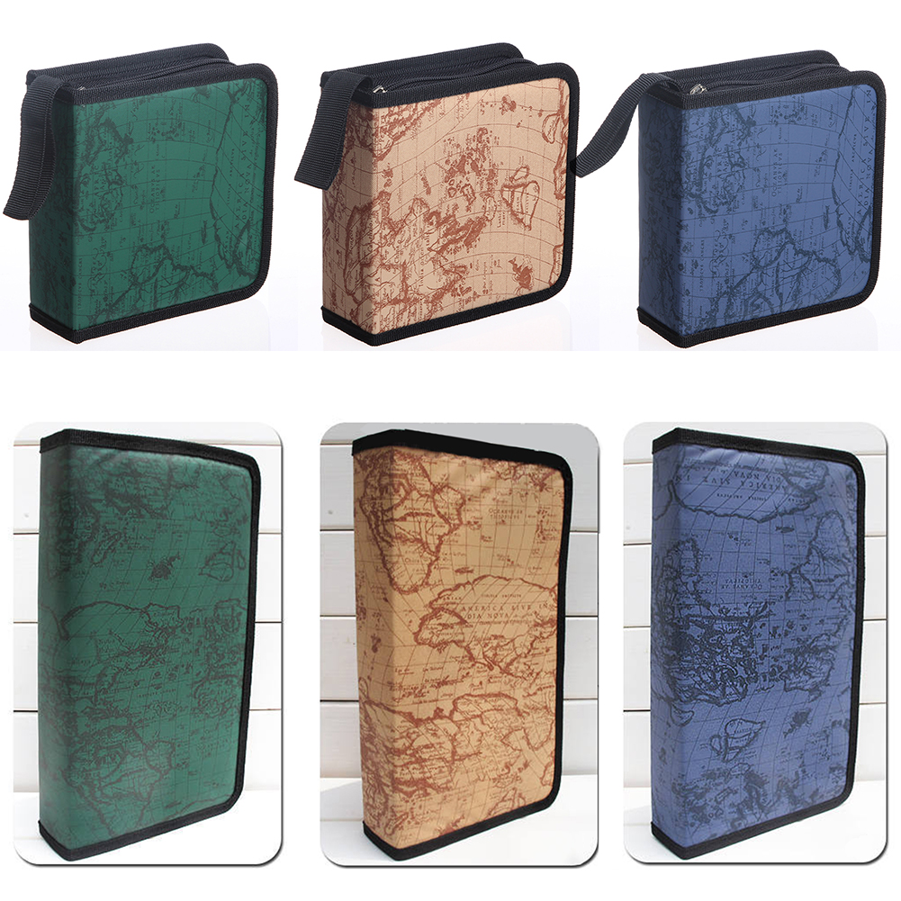 40/80 Disc Carry Box Holder Package Car Storage Bag Case Album DVD CD Organizer Protective Cover Home Map Stripe
