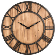 New 3D Retro 40cm Vintage Wall Clock Living Room Wrought Iron Solid Wood Fir Mute Creative Cafe Large Size For Home