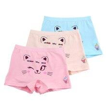 10 Stks/partij Kinderen Schattige Cartoon Kat Boxer Korte Meisjes Comfortabele Ondergoed Underpant 1 10year