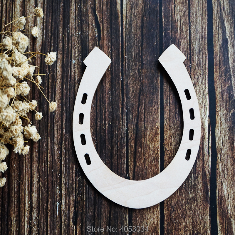Wooden MDF wedding Blank Craft Shapes laser  Decoupage Tags 10 x HORSE SHOES