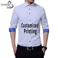 9e55f08652b incomparable tees Store. Add to Wish List. Lanmaocat Fashion Mens Casual Business  Shirt Custom Logo Printed Slim Fit Male Social Shrits Long Sleeve