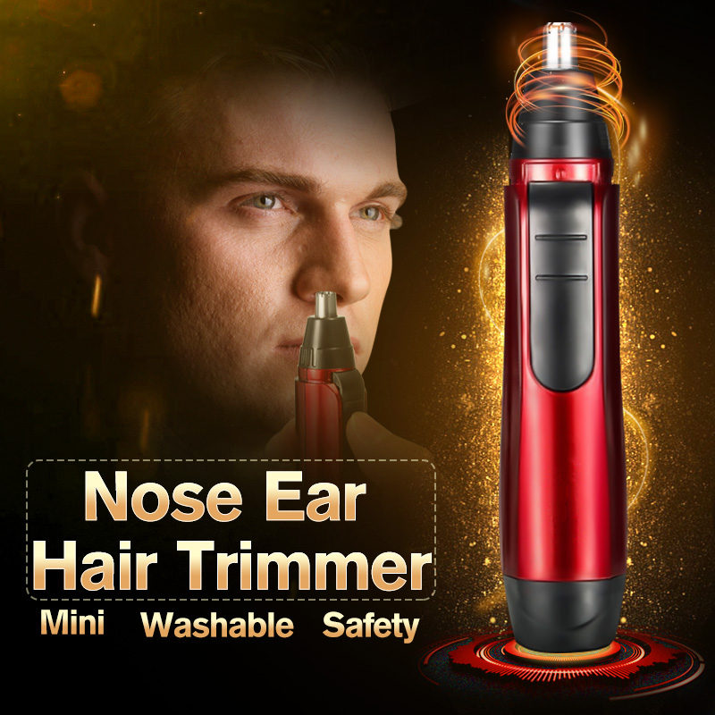 Portable Electric Ear Nose Hair Trimmer Ear Face Neat Clean Trimer Razor Removal Shaving P