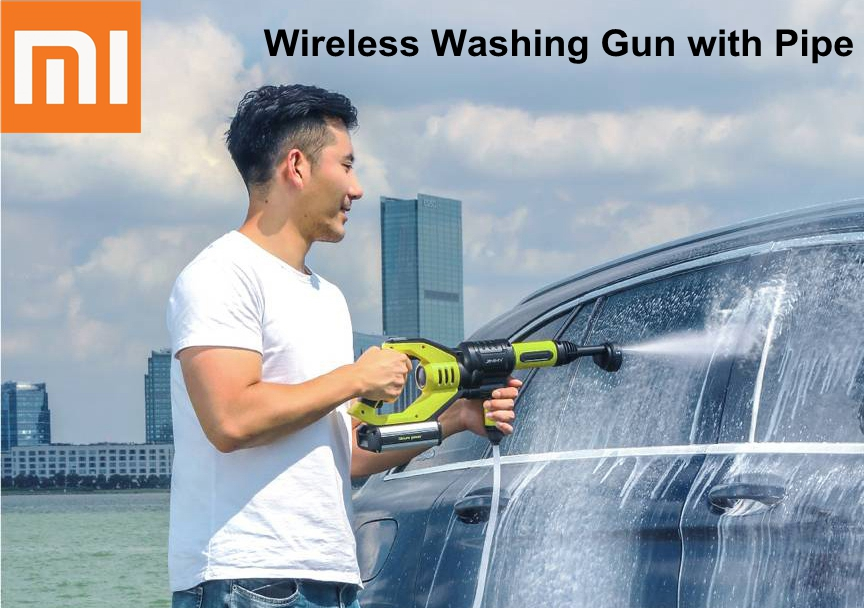xiaomi handheld car water gun high pressure 2 2mpa wireless washing gun home garden bicycle. Black Bedroom Furniture Sets. Home Design Ideas
