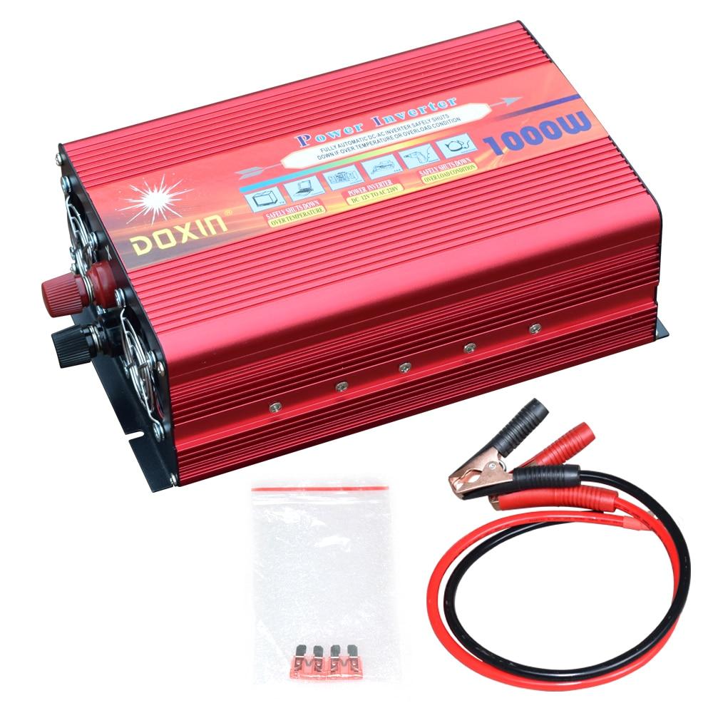 1000W Watt DC 12V to AC 220V Portable Car Power Inverter Charger Converter Adapter DC 24 to AC 110V solar inverter 1000w1000W Watt DC 12V to AC 220V Portable Car Power Inverter Charger Converter Adapter DC 24 to AC 110V solar inverter 1000w