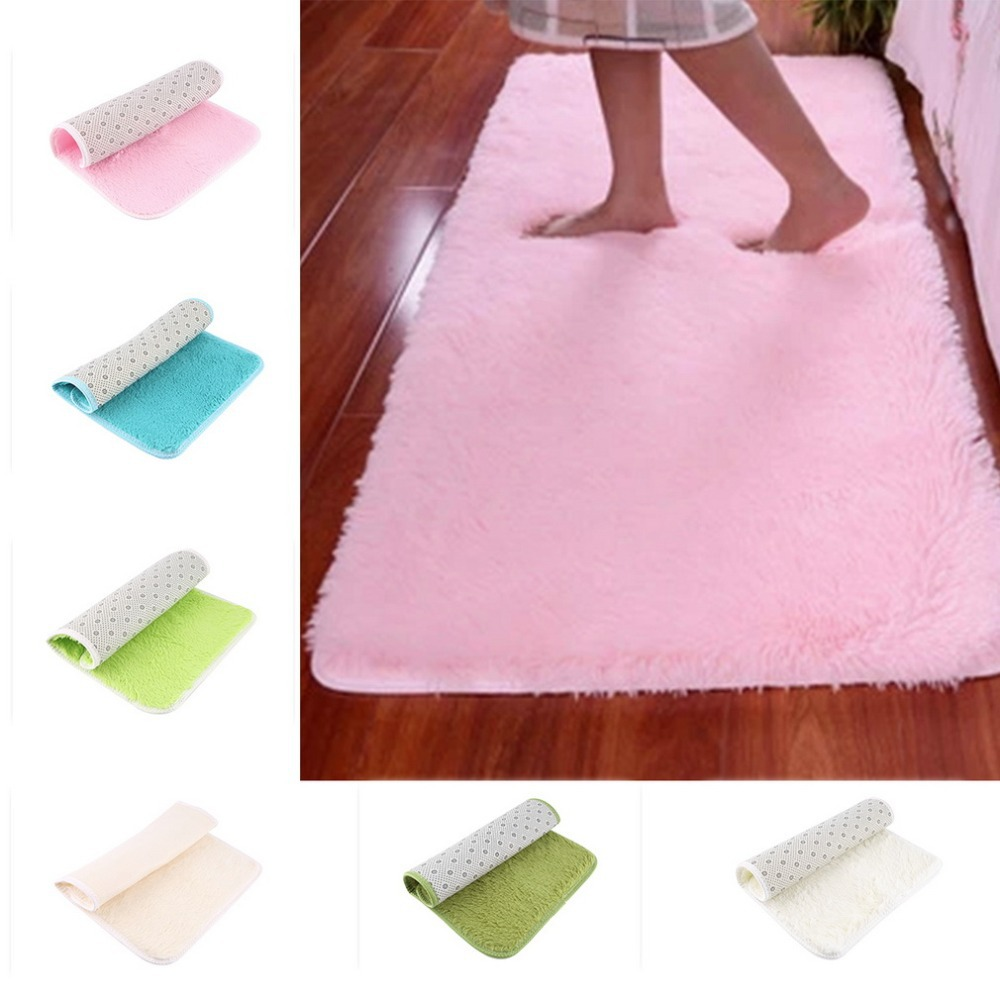 New Fashion Flokati Shaggy Seatmat Carpet Beige Rug Anti-skid Carpets Fit For Living Room And Bedroom Soft Carpet 40*60cm10