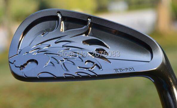 TOUROK  EMILLID BAHAMA EB-901 Iron Set Black EMILLID BAHAMA Golf Clubs 456789Pw(7PCS) R/S Flex Steel  Shaft With Head Cove