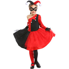 Kids Harley Quinn Costume Suicide Squad Cosplay Costumes Girl Halloween For Child