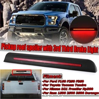 Universal Car Pickup Rear Roof Trunk Spoiler Wing With 3rd Third Brake Light For Ford F150 F250 F350 For Toyota Tacoma Tundra
