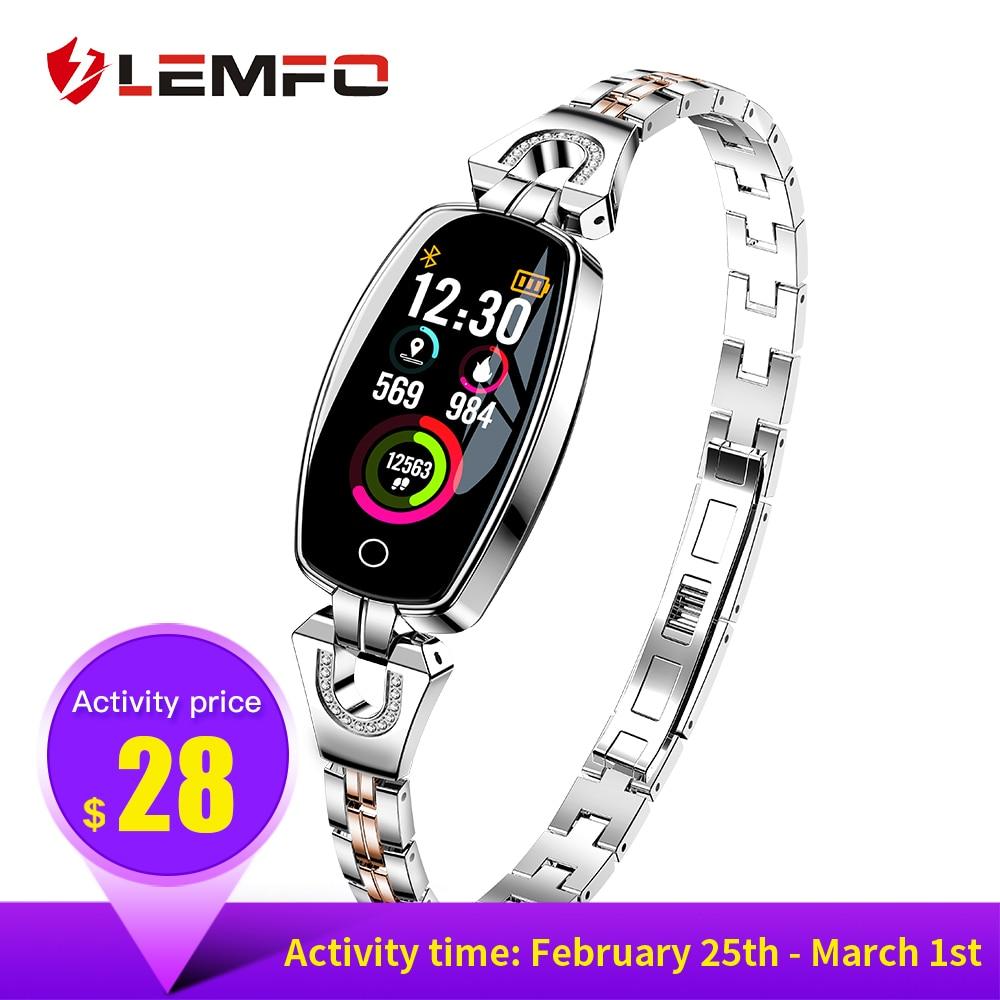 LEMFO H8 умный Браслет Фитнес часы-браслет Поддержка сердечного ритма крови Давление монитор Водонепроницаемый Фитнес трекер для Для женщин