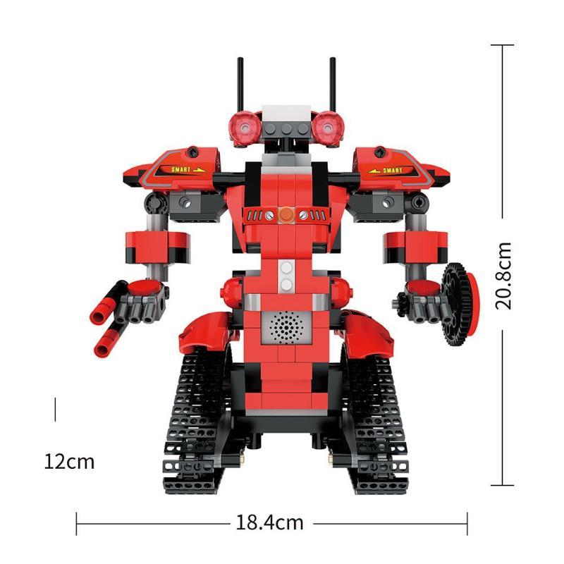 DIY 2 4G Remote Control Robot Model Building Blocks Remote Control RC Transformer Building Blocks Model Robot Bricks Set Toy in Blocks from Toys Hobbies