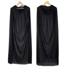 Black Halloween death cloak,Adult Kids Witch Long Cloaks Hood(135cm long)