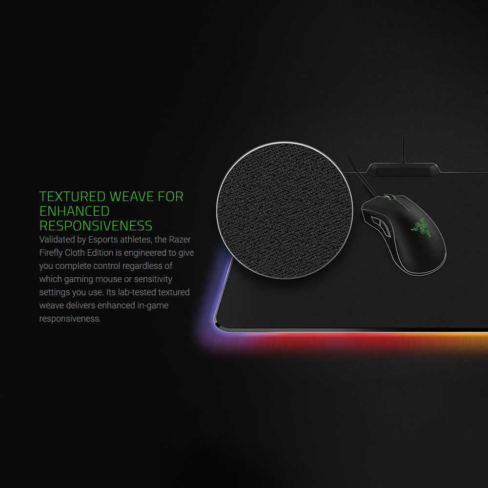 Razer настраиваемая подсветка коврик для мыши USB Проводная красочная подсветка игровой коврик для мыши Коврик для ноутбука компьютера LOL