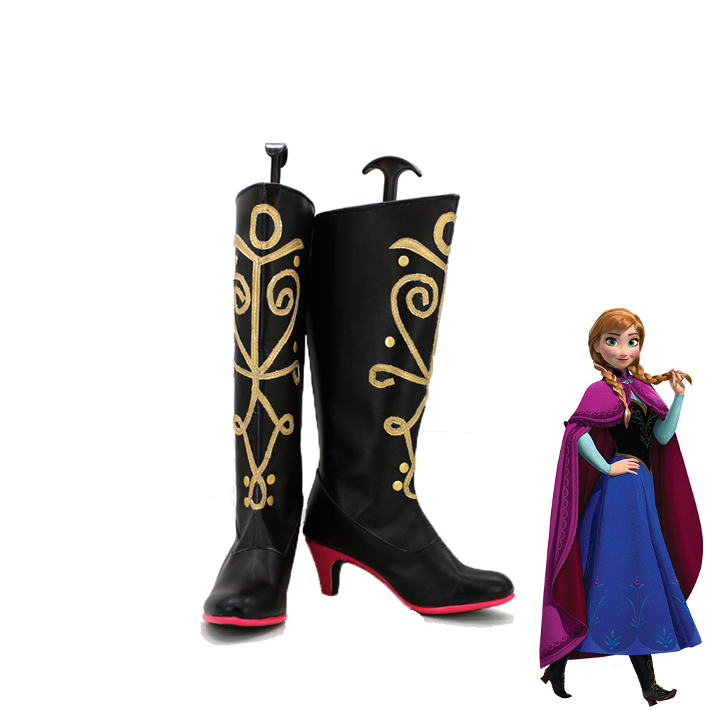 Frozen Anna Women Cosplay Boots Shoes Halloween Customized Size