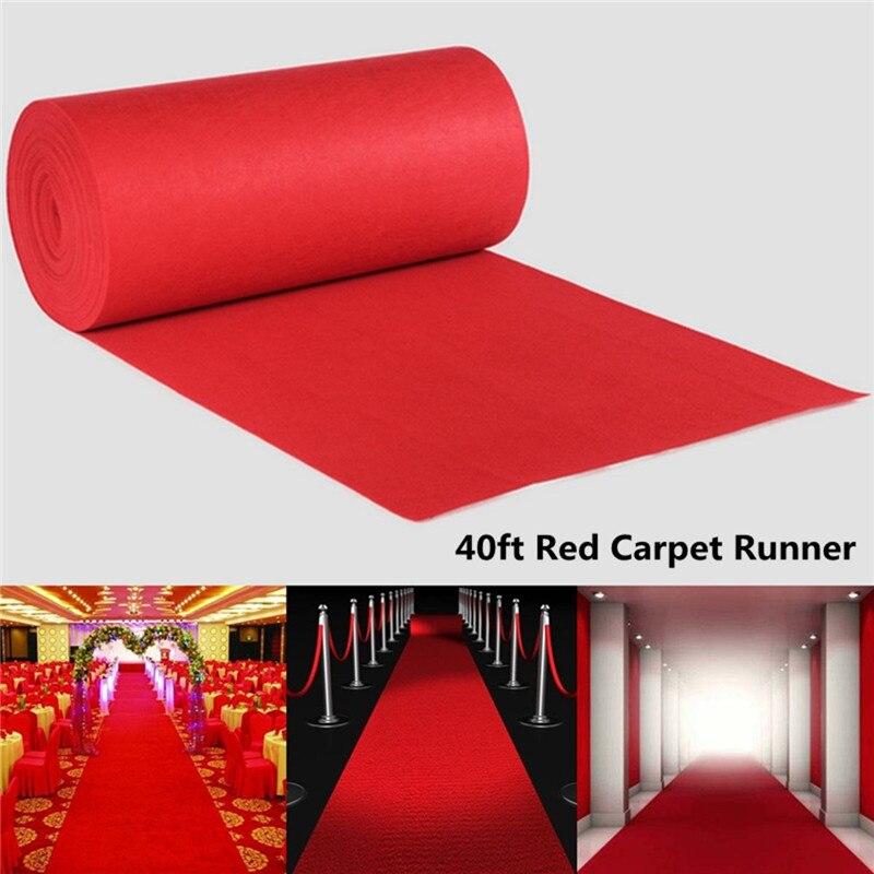 Mode grand tapis rouge allée de mariage étage coureur Hollywood fête décoration mariage fournitures 1200x100 cm
