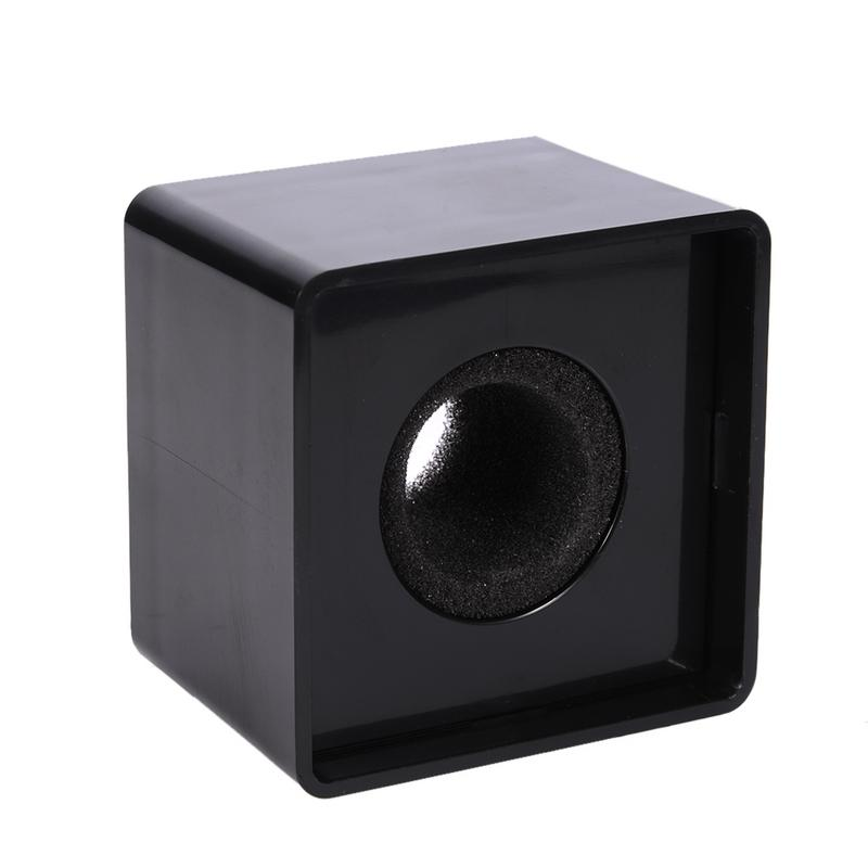 ABS+sponge Material Square Microphone Logo Television Crew Interview Standard Microphone Accessories