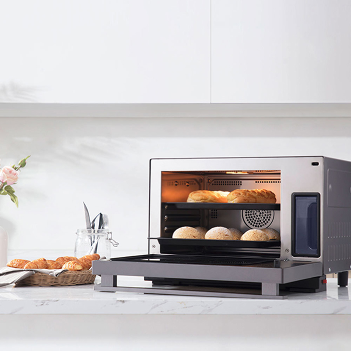 VIOMI 28L 2100W Electric Oven 2 In 1 Steaming Machine Multifunction Household Countertop Type Oven Toaster Meat Grill