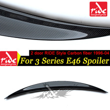 For BMW E46 3-Series 318i 320i 323i 325i 328i 330 2Door RIDE Style High-quality Carbon Fiber Rear Trunk Spoiler Wing Lip 1996-04