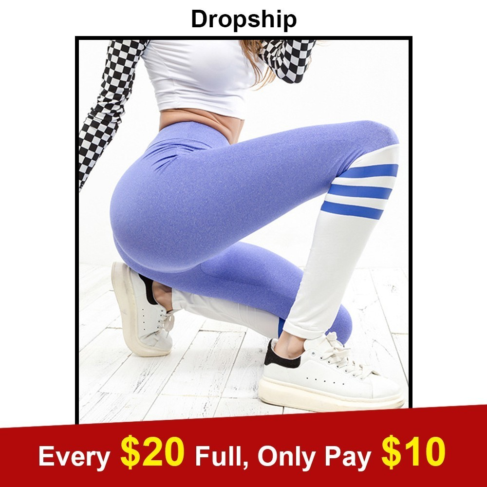 Dropship Ventilation Workout Mid Waist Elastic Running Fitness Slim Sport Patchwork Pants   Leggings   Multicolor Womens Clothing